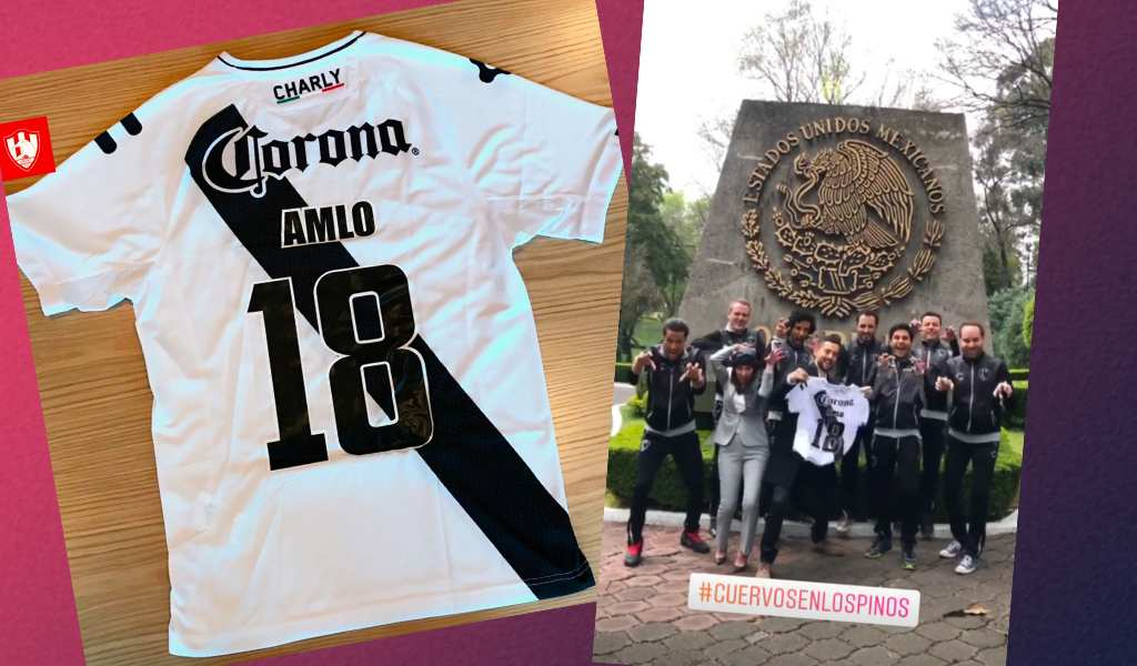 new style 11c34 c3509 La historia del día en que Club de Cuervos visitó a AMLO ...